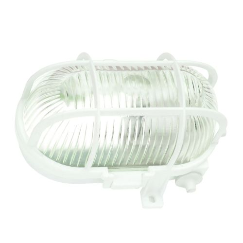 Aplica ovala de exterior, plastic alb, E27, IP 44